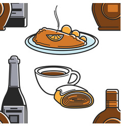 Food and drink austrian cuisine and beverages vector