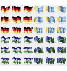 Germany Tuva Lesothe Solomon Islands Set of 36 vector