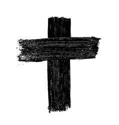 Grunge christian cross design element for poster vector