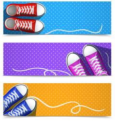 Gumshoes Banner Set vector