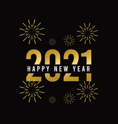 Happy new year 2021 template design vector