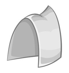 Hood maid icon gray monochrome style vector