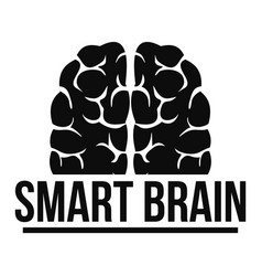 human smart brain logo simple style vector image