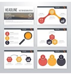 Infographics presentation template flat design vector image