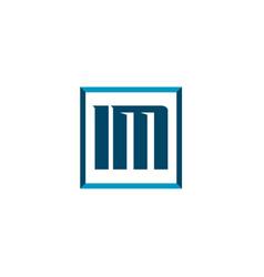 initial letter logo im template design vector image