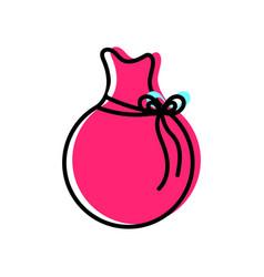 Isolated santas bag design vector