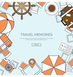 Lined World travel concept vector