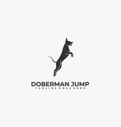 logo dog silhouette style vector image