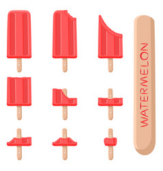 logo for natural watermelon ice cream vector image