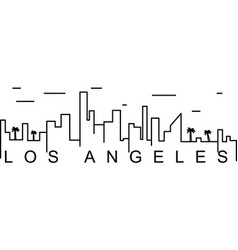 Los angeles outline icon can be used for web logo vector
