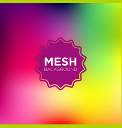 mesh background in rainbow color palette vector image