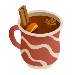 Mulled wine icon isometric style vector