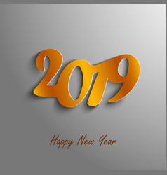 new year card with abstract numbers in orange vector image