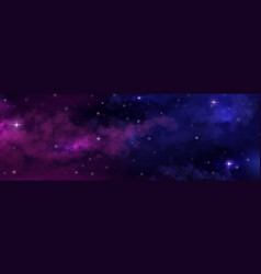 night sky universe space background starry vector image