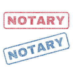 Notary textile stamps vector
