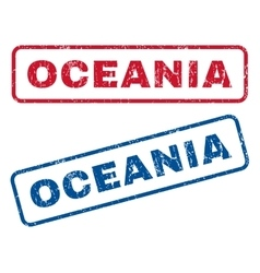 Oceania Rubber Stamps vector image