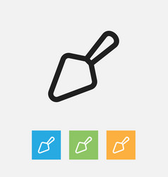 Of food symbol on trowel vector