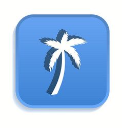 palm tree isometric icon for graphic and web vector image