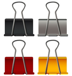 Paper clip in four colors vector