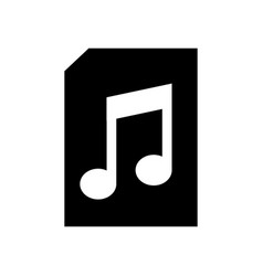 paper document with music note isolated icon vector image