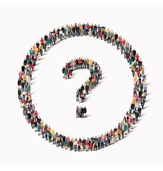 People shape question mark vector