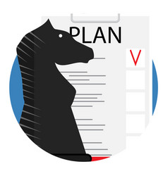 Plan icon vector