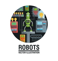 Robot design industry concept humanoid icon vector