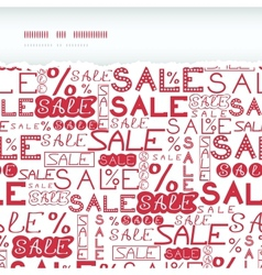 Sale seamless pattern horizontal torn frame vector image