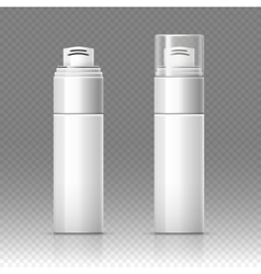 Shaving foam cosmetic bottle sprayer container vector image