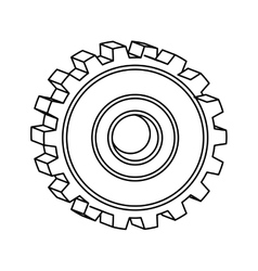 Silhouette of gear wheel icon vector
