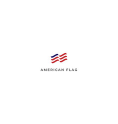 simple minimalist american us flag logo design vector image