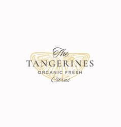 The tangerines organic fresh citrus abstract vector