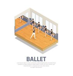 Theatre ballet practice background vector