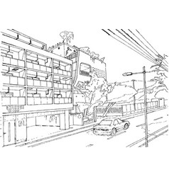 Tokio cityscape tokyo street vector