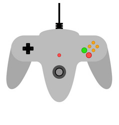 Top view of a videogame joystick vector