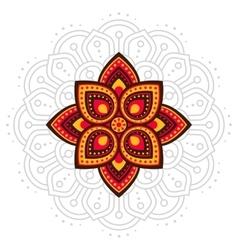 Ugadi and Gudi Padwa mandala line vector image