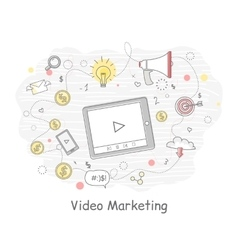 Video Marketing Approaches Measures and Methods vector