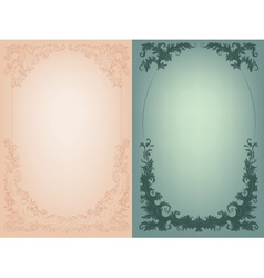 Vintage background with rich baroque decoration vector image