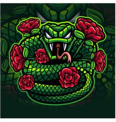 Viper snake mascot logo design vector