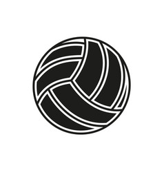 volleyball ball icon on white background vector image