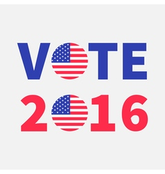 Vote 2016 red blue text Badge button icon with vector