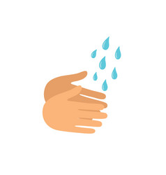 washing hands icon isolated on vector image