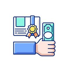 Workshop fee rgb color icon vector