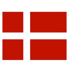 danish flag vector image vector image