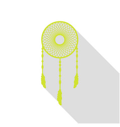 dream catcher sign pear icon with flat style vector image vector image