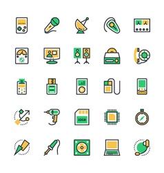 Electronics icons 3 vector