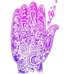 Hand pink doodles vector image