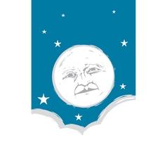 Moon Face vector image vector image