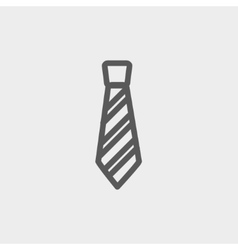Necktie thin line icon vector image