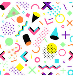 pattern in the 90s style vector image vector image